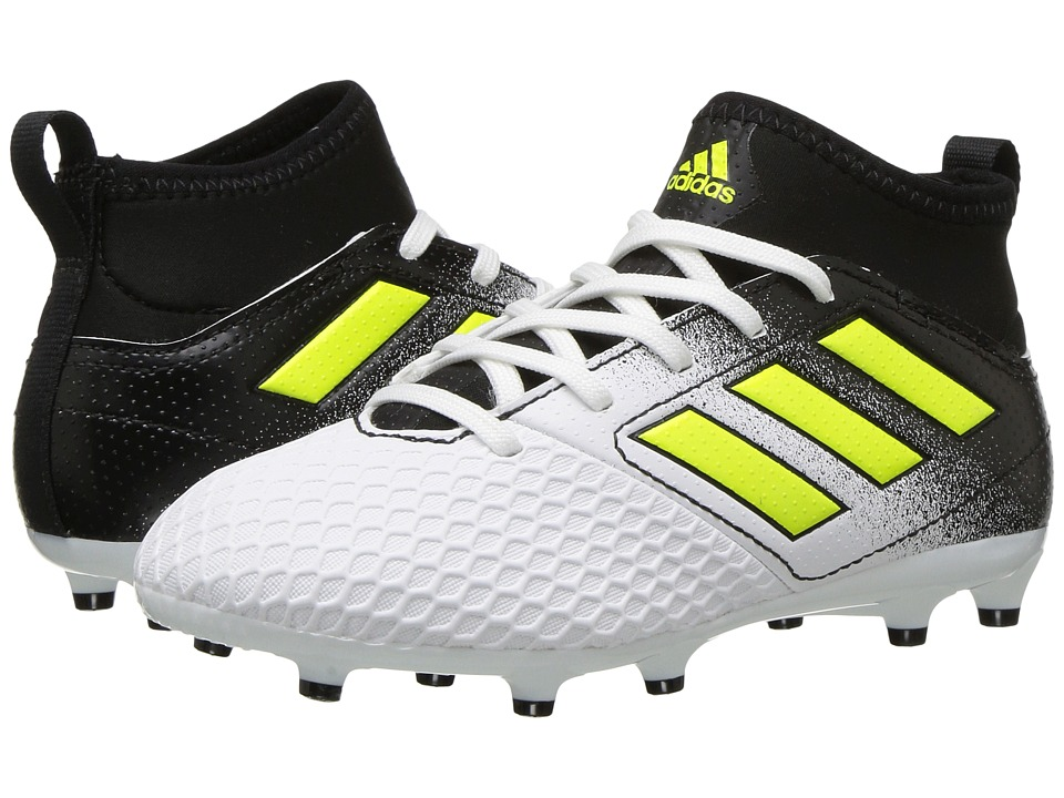 adidas Kids Ace 17.3 FG J Soccer (Little Kid/Big Kid) (Footwear White/Solar Yellow/Core Black) Kids Shoes