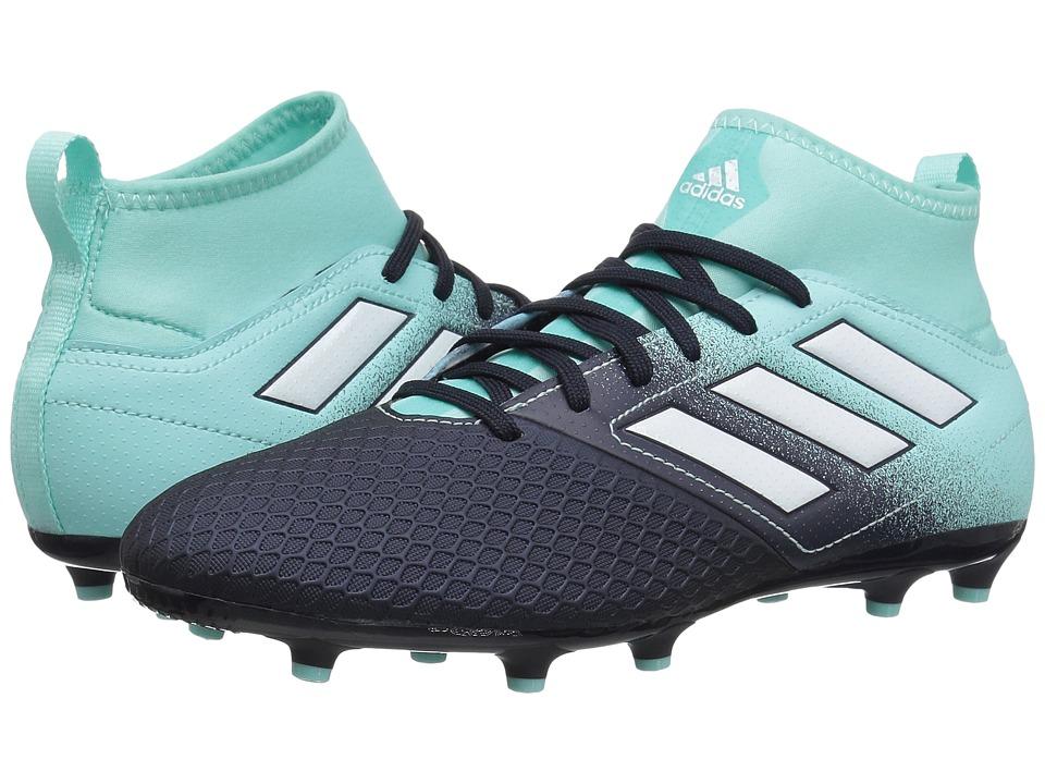 adidas Kids Ace 17.3 FG J Soccer (Little Kid/Big Kid) (Energy Aqua/Footwear White/Legend Ink) Kids Shoes