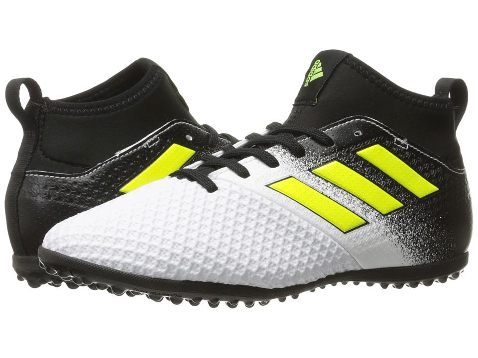 adidas Kids Ace Tango 17.3 TF J Soccer (Little Kid/Big Kid) (Footwear White/Solar Yellow/Core Black) Kids Shoes