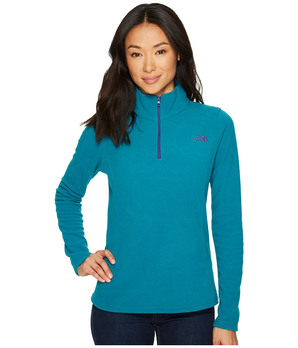 The North Face Glacier 1/4 Zip Fleece Top (Harbor Blue) Women