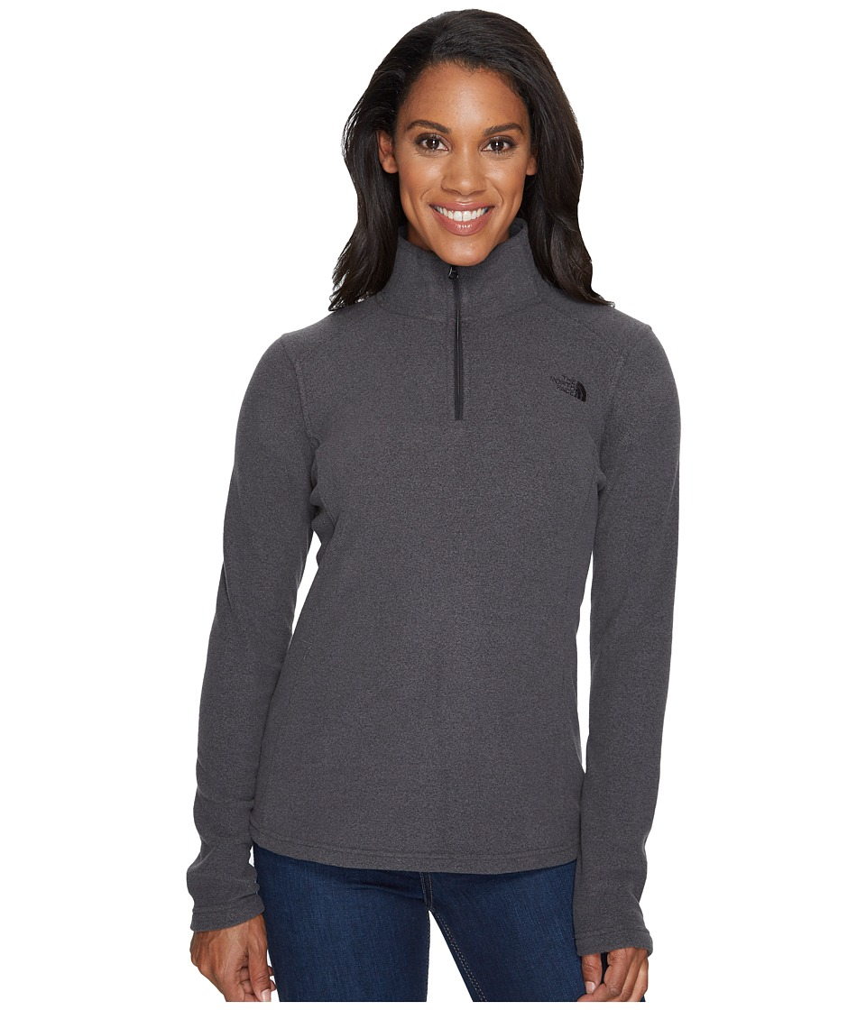 The North Face Glacier 1/4 Zip Fleece Top (TNF Dark Grey Heather/TNF Black) Women