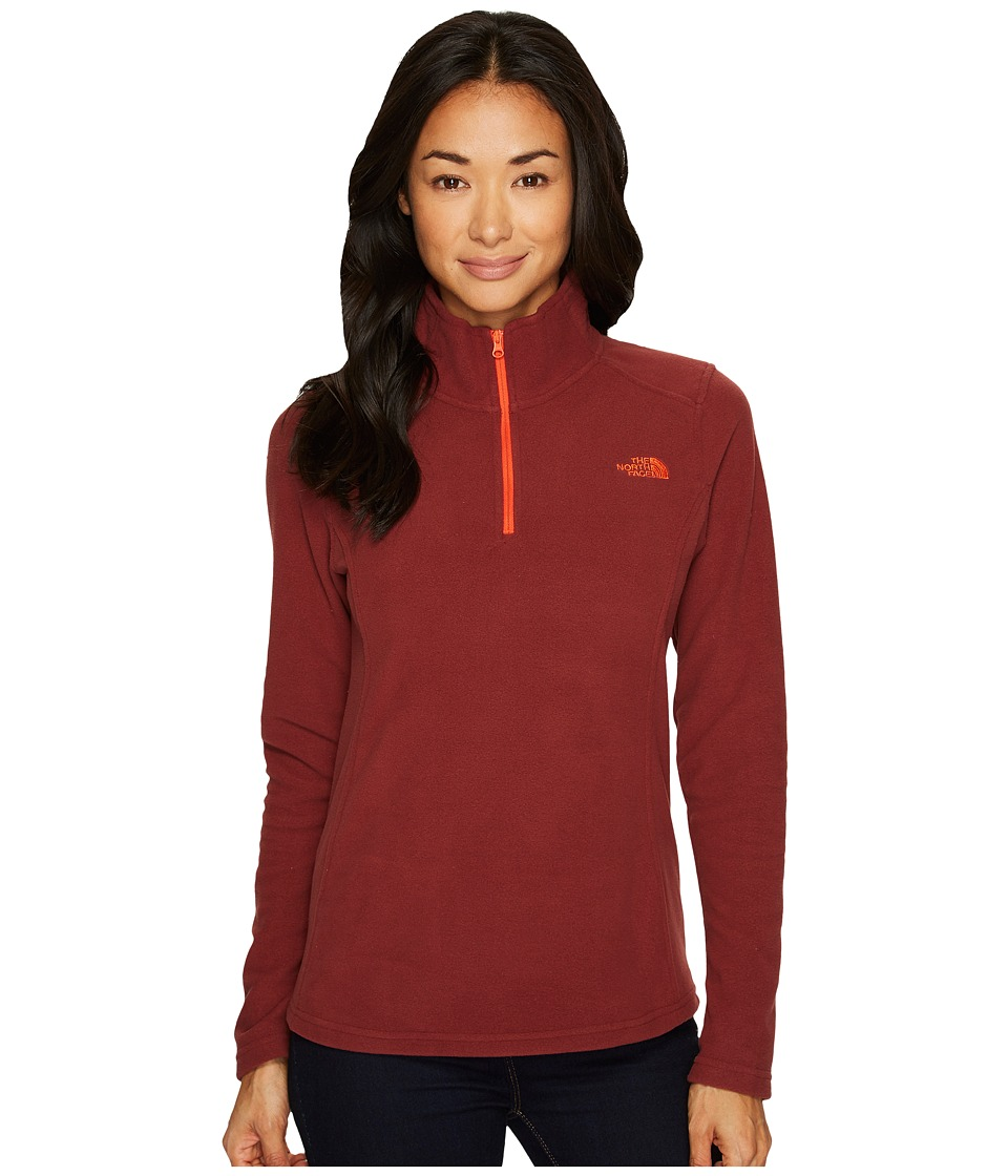 The North Face Glacier 1/4 Zip Fleece Top (Barolo Red) Women