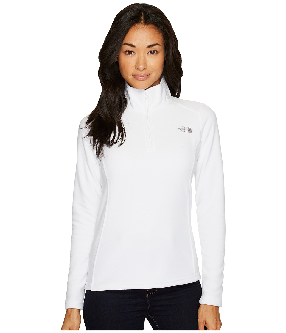 The North Face Glacier 1/4 Zip Fleece Top (TNF White/High Rise Grey) Women