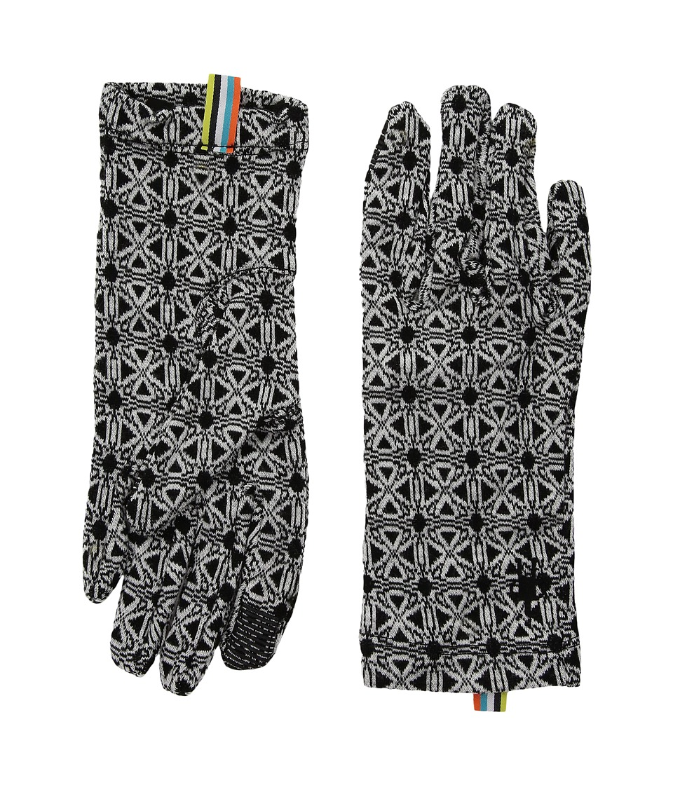 Smartwool NTS Mid 250 Pattern Gloves (Dogwood White/Black) Wool Gloves