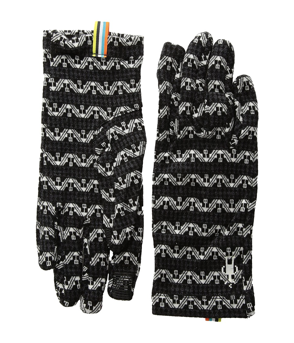 Smartwool NTS Mid 250 Pattern Gloves (Black/Charcoal) Wool Gloves