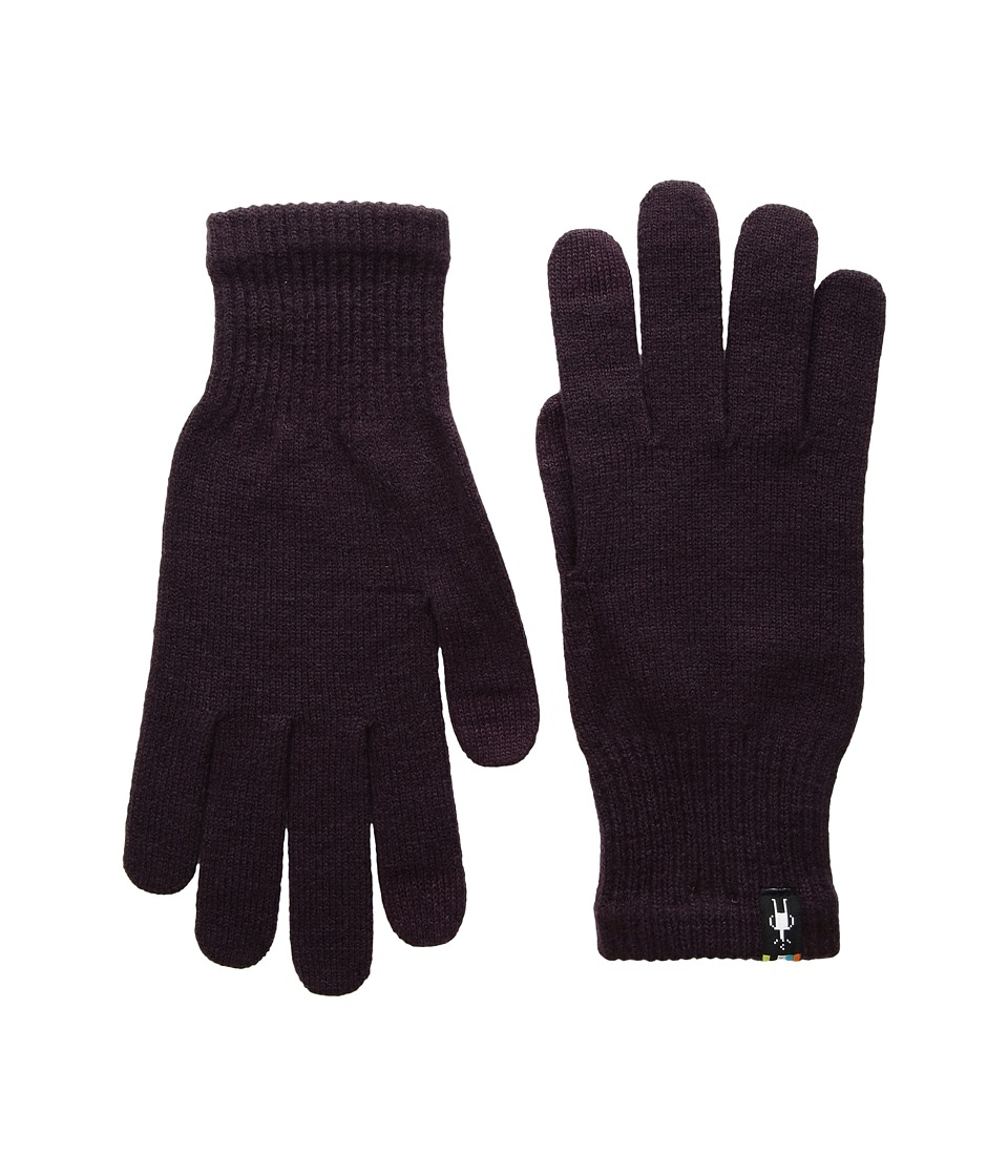 Smartwool Liner Glove (Bordeaux Heather) Liner Gloves