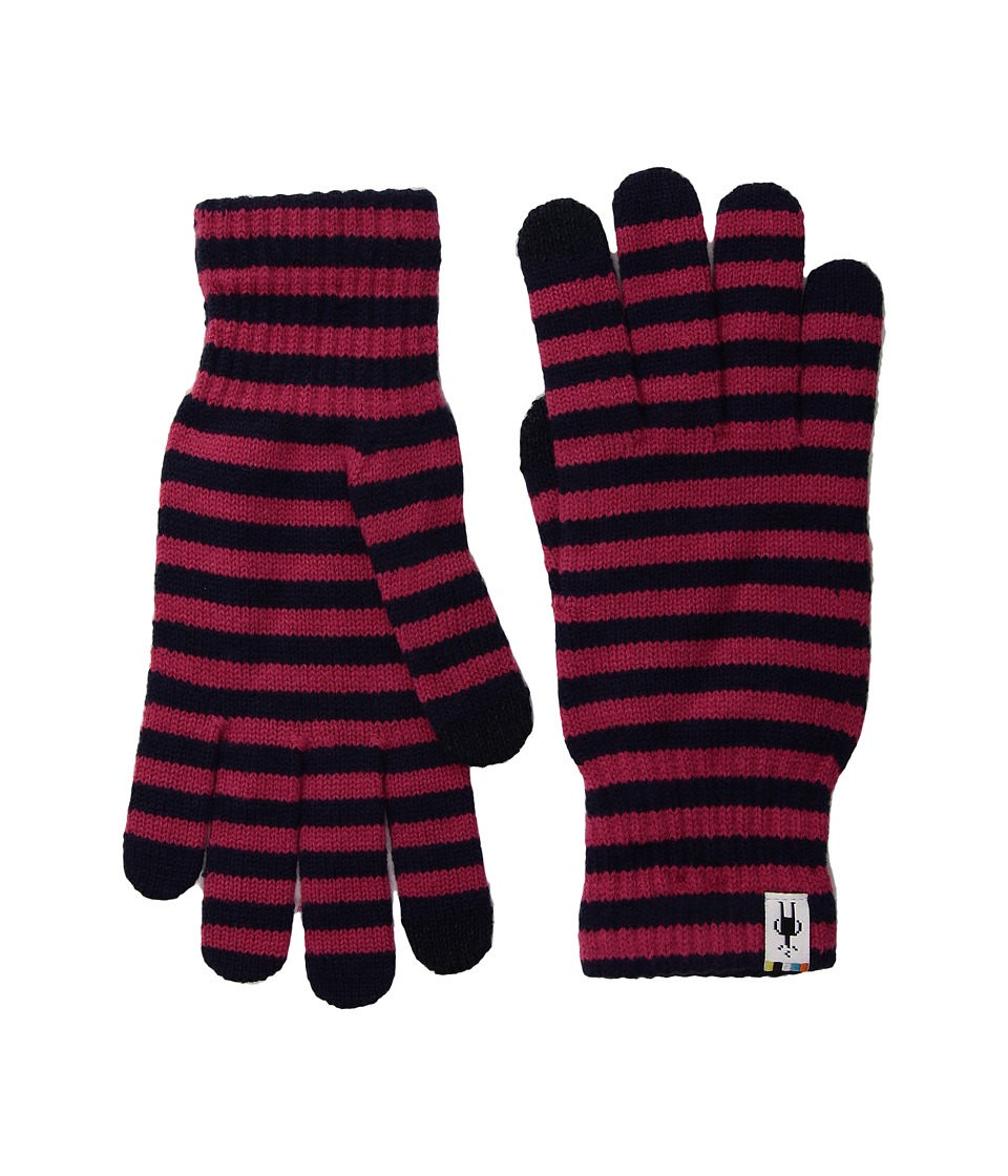 Smartwool Striped Liner Glove (Potion Pink) Extreme Cold Weather Gloves