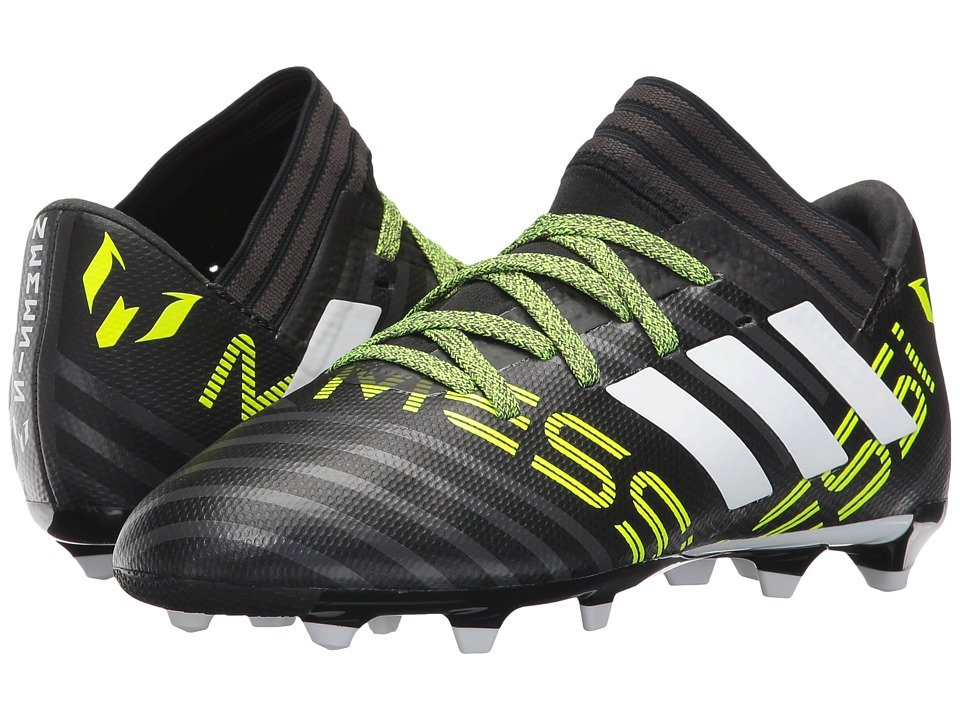 adidas Kids Nemeziz Messi 17.3 FG J Soccer (Little Kid/Big Kid) (Core Black/Footwear White/Solar Yellow) Kids Shoes