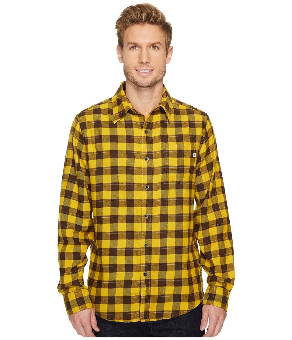 Marmot Bodega Flannel Long Sleeve Shirt (Mustard Yellow) ...