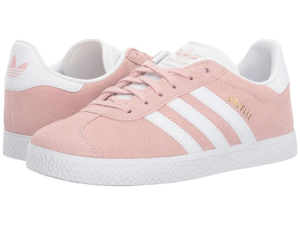 adidas Originals Kids Gazelle (Big Kid) (Icy Pink/White/Gold) Girls Shoes
