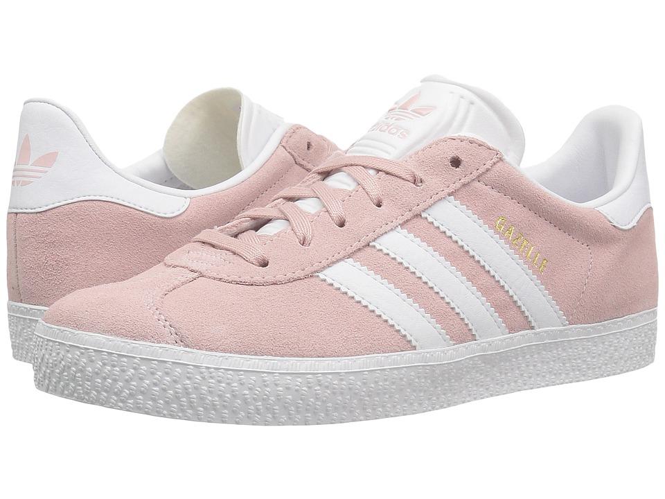 adidas Originals Kids Gazelle (Little Kid) (Icy Pink/White/Gold) Girls Shoes
