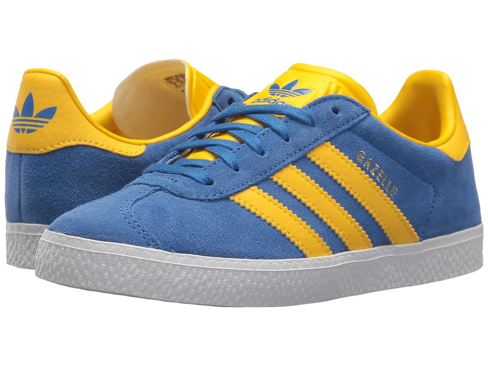 size 40 4bdae f6be1 adidas Originals Kids Gazelle (Little Kid) (BlueIce YellowGold)
