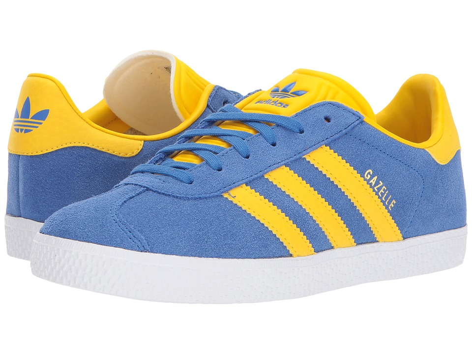 adidas Originals Kids - Gazelle (Big Kid) (Blue/Ice Yellow/Gold) Kids Shoes