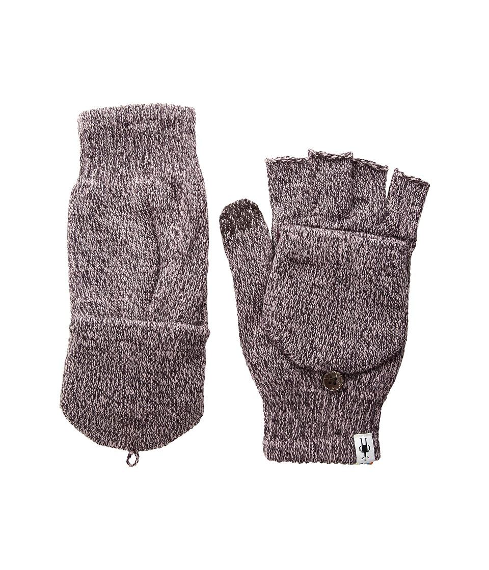 Smartwool Cozy Flip Mitt (Bordeaux Heather) Over-Mits Gloves