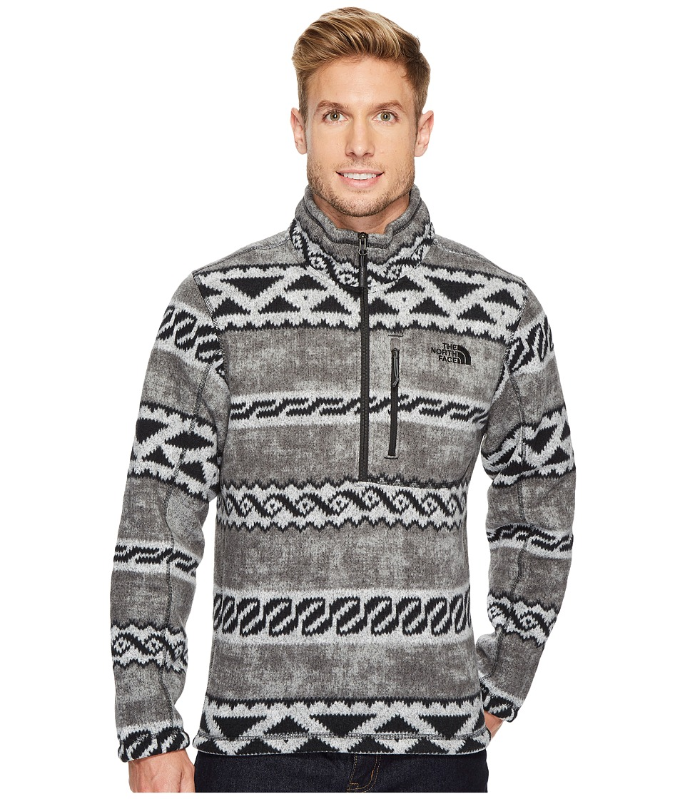 The North Face - Novelty Gordon Lyons 1/4 Zip (Asphalt Grey Woolen Print) Mens Fleece