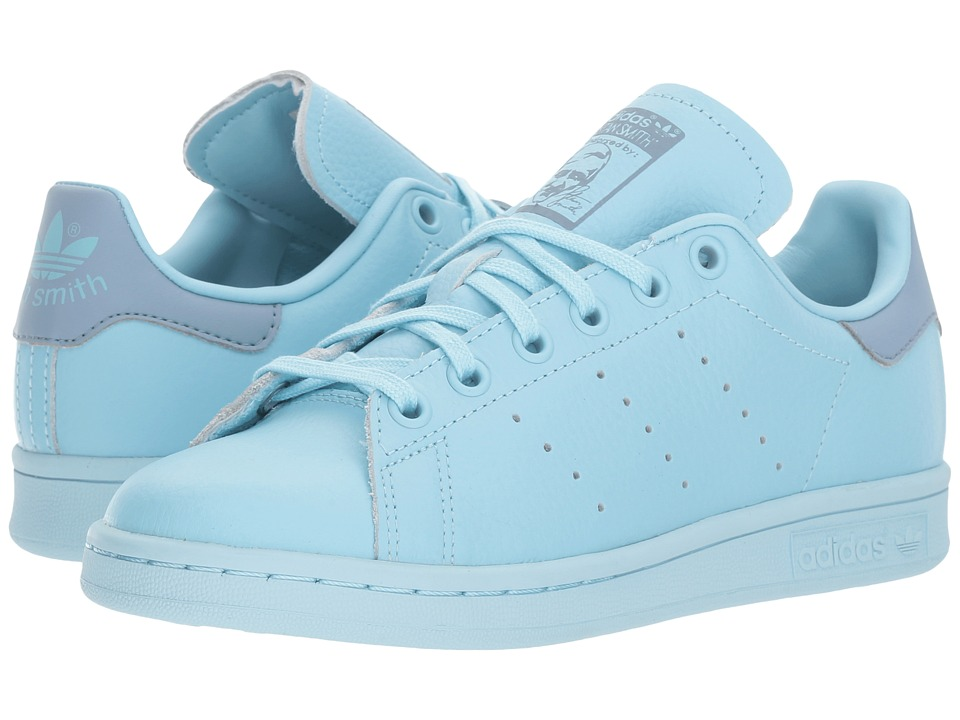 adidas Originals Kids Stan Smith (Big Kid) (Icy Blue/Tacticle Blue) Kids Shoes
