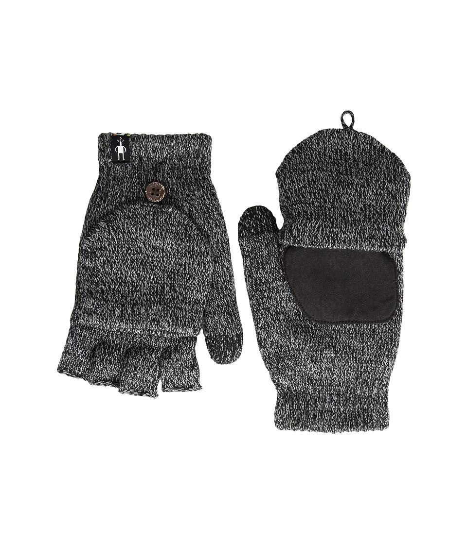 Smartwool Cozy Grip Flip Mitt (Black) Extreme Cold Weather Gloves