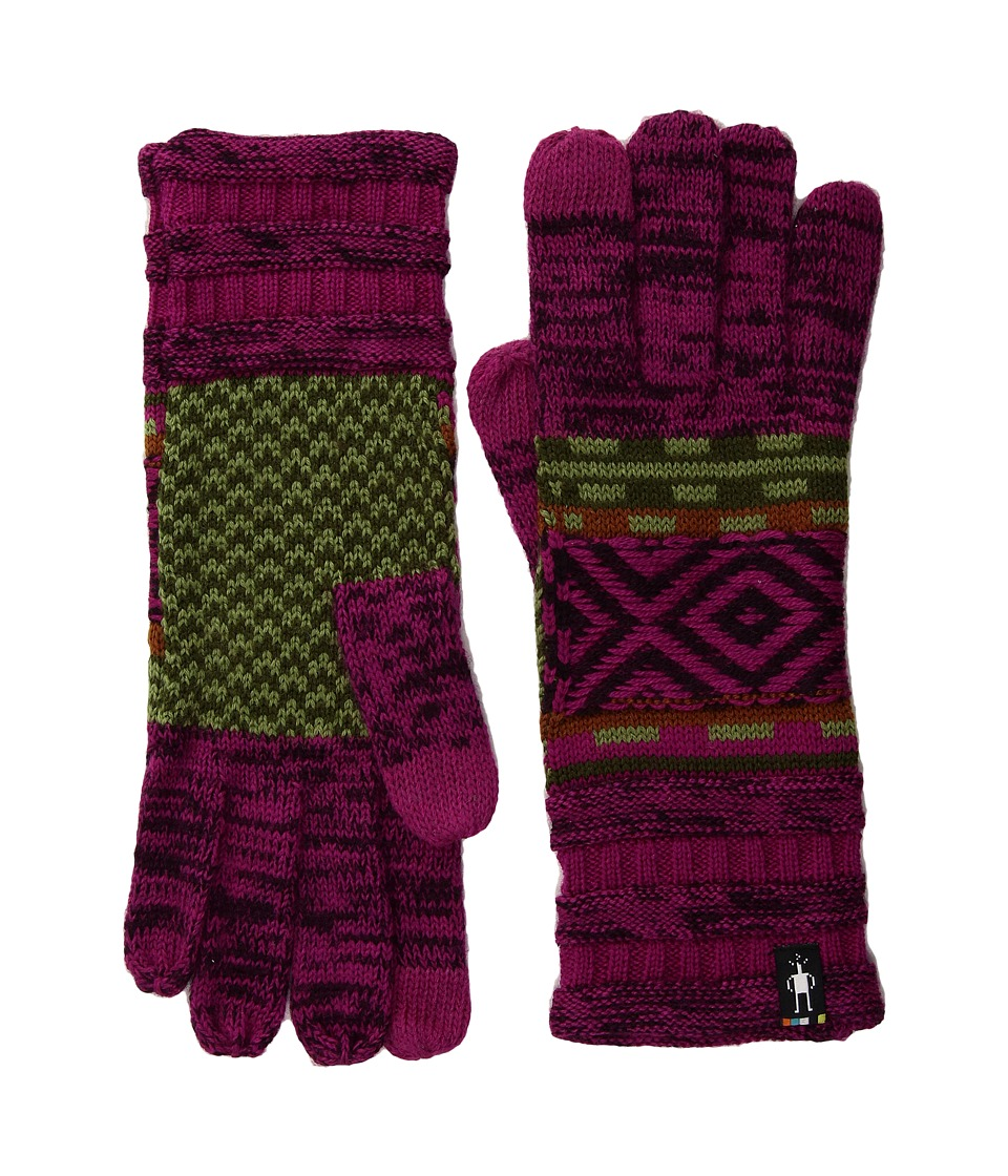 Smartwool Dazzling Wonderland Gloves (Berry) Extreme Cold Weather Gloves