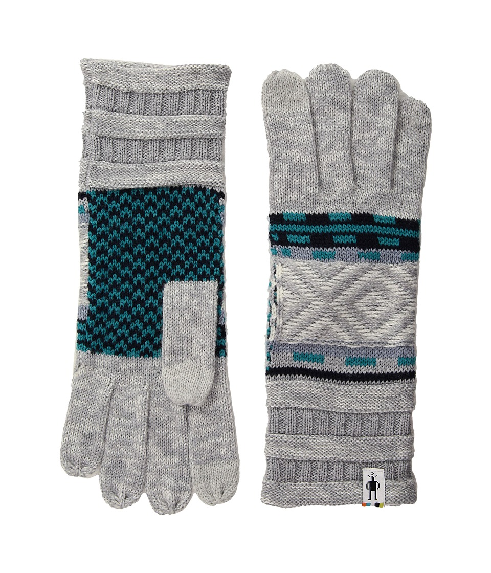 Smartwool Dazzling Wonderland Gloves (Light Gray Heather) Extreme Cold Weather Gloves