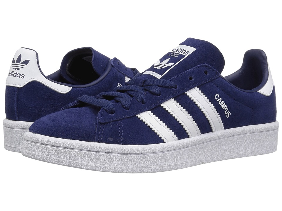 adidas Originals Kids - Campus (Big Kid) (Dark Blue/White/Chalk) Kids Shoes