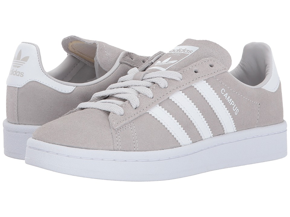 adidas Originals Kids Campus (Big Kid) (Grey 1/Grey 1/White) Kids Shoes