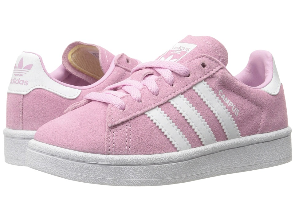 adidas Originals Kids Campus (Little Kid) (Frost Pink/Ruby/White) Girls Shoes