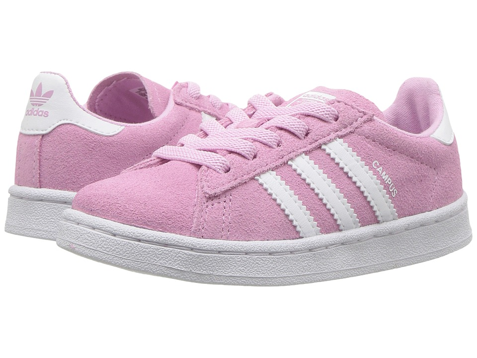 adidas Originals Kids Campus (Toddler) (Frost Pink/Ruby/White) Girls Shoes