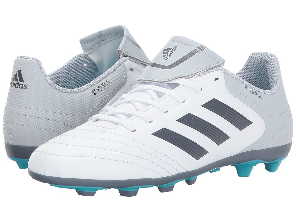 adidas Kids Copa 17.4 FxG J Soccer (Little Kid/Big Kid) (Clear Grey/Footwear White/Onix) Kids Shoes