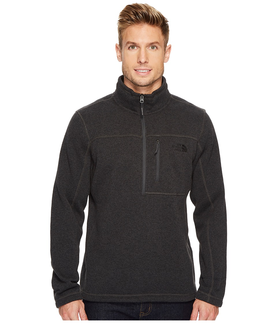 The North Face - Gordon Lyons 1/4 Zip (TNF Dark Grey Heather) Mens Long Sleeve Pullover