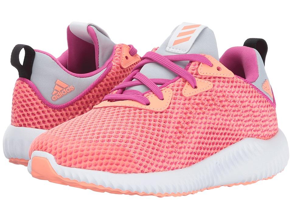 adidas Kids Alphabounce C (Little Kid) (Bahia Magenta/Sun Glow/Clear Grey) Girls Shoes
