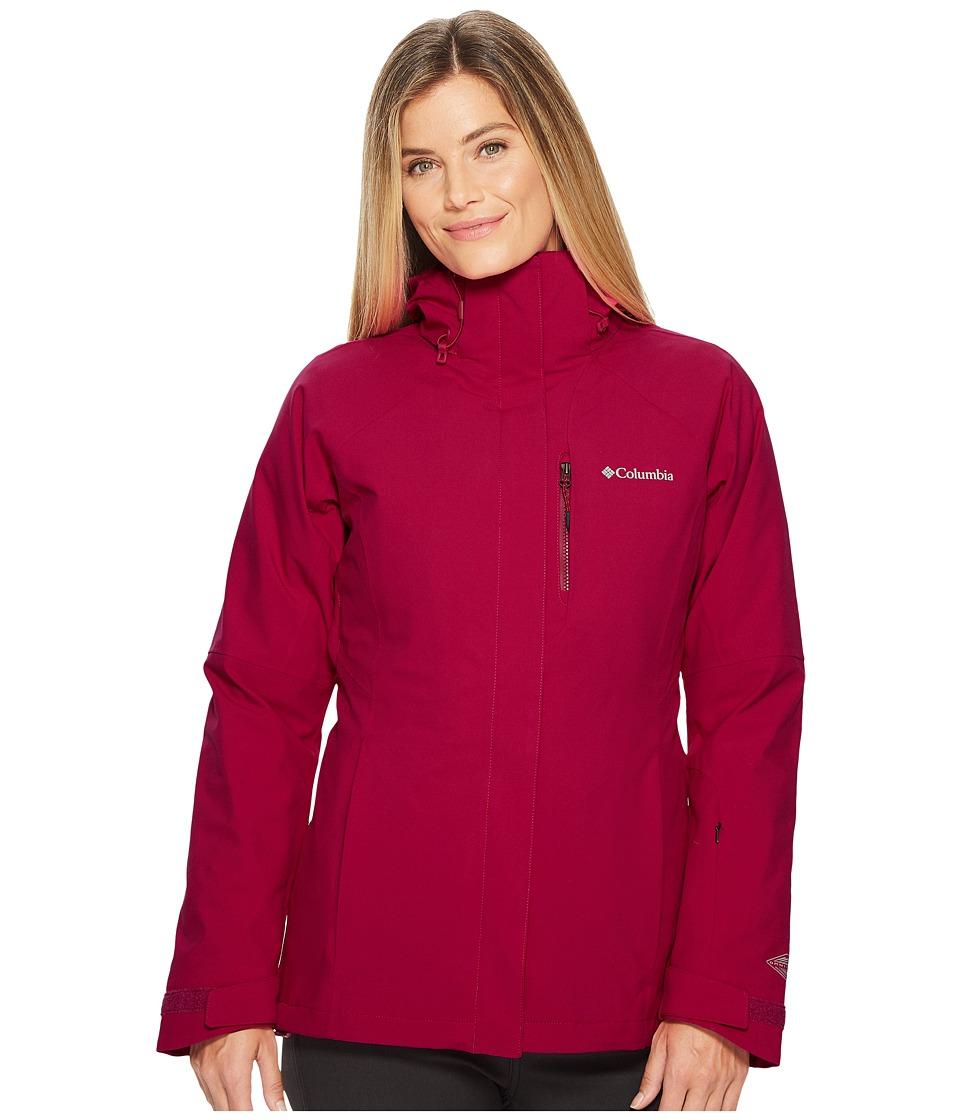 Columbia Herz Mountain Interchange Jacket (Deep Blush/Dark Raspberry) Women