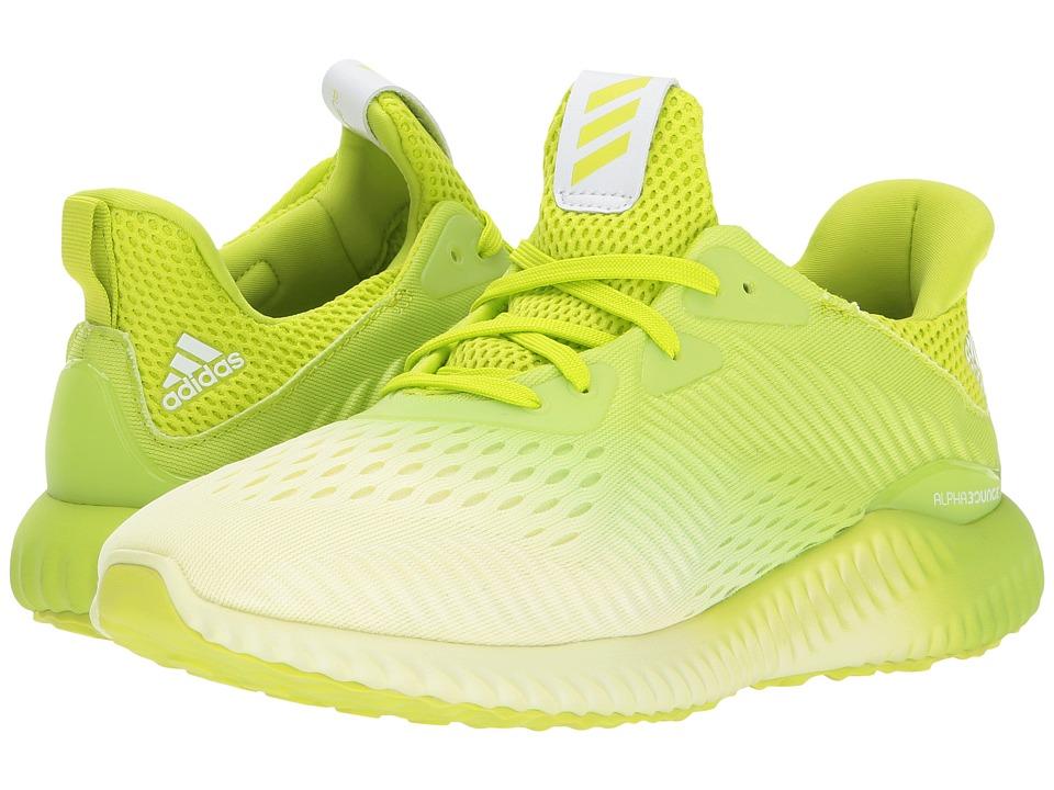 adidas Kids Alphabounce EM J (Big Kid) (Grey One/Footwear White/Semi Solar Yellow) Boys Shoes