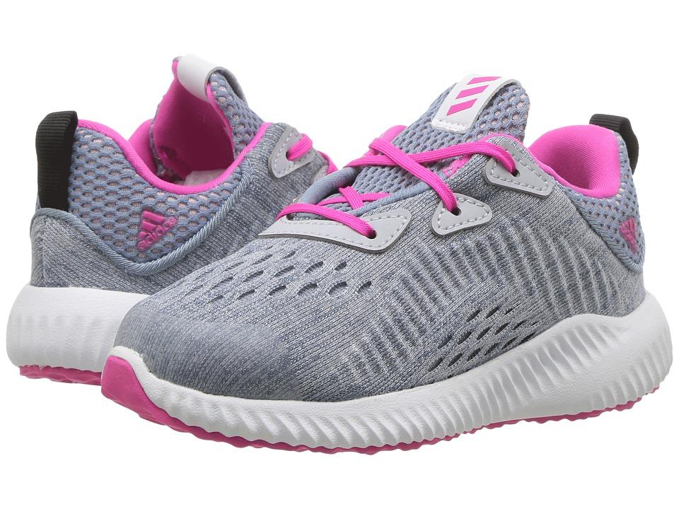 adidas Kids Alphabounce EM I (Toddler) (Clear Grey/Shock Pink/Tactile Blue) Girls Shoes