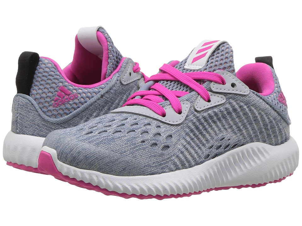 adidas Kids Alphabounce EM C (Little Kid) (Clear Grey/Shock Pink/Tactile Blue) Girls Shoes