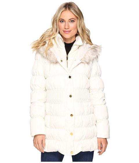 Via Spiga Down Coat w/ Winter White Faux Fur Trim