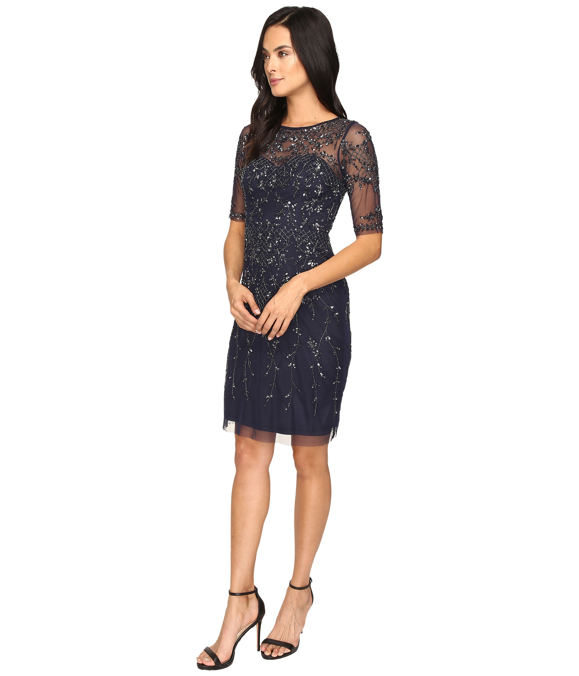 3 4 sleeve cocktail dresses zappos