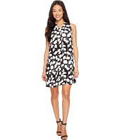 Vince Camuto Specialty Size - Petite Sleeveless Elegant Blossom Invert Pleat Dress