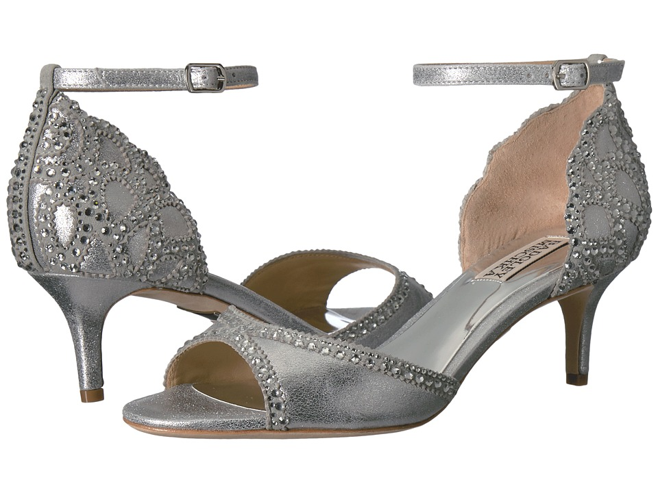Badgley Mischka Gillian (Silver Metallic Suede) Women