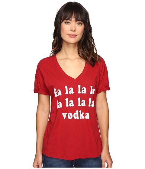 The Original Retro Brand Fa La La Vodka Oversized V-Neck Tee