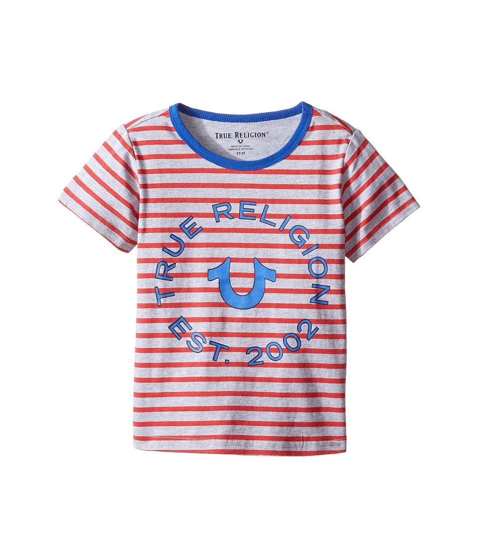 True Religion Kids Heather Jersey Stripe Tee (Toddler/Little Kids) (Bright Red) Boy