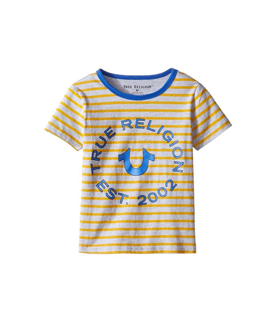 True Religion Kids Heather Jersey Stripe Tee (Toddler/Little Kids) (Bright Yellow) Boy