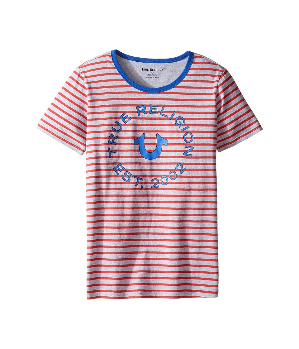 True Religion Kids Heather Jersey Stripe Tee (Big Kids) (Bright Red) Boy