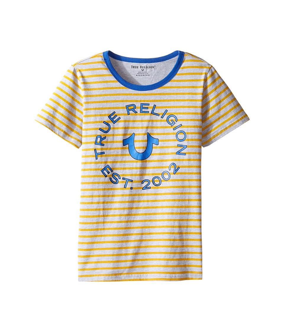 True Religion Kids Heather Jersey Stripe Tee (Big Kids) (Bright Yellow) Boy