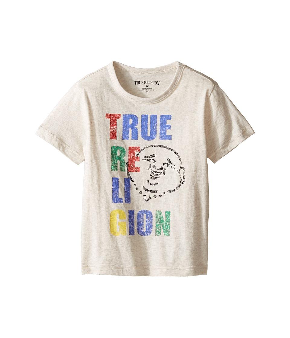 True Religion Kids Buddha Pop Tee (Toddler/Little Kids) (Oatmeal Heather) Boy