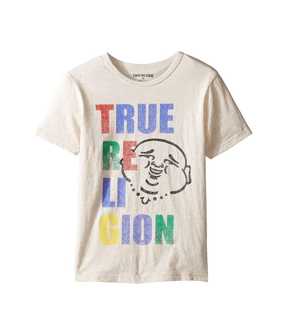 True Religion Kids Buddha Pop Tee (Big Kids) (Oatmeal Heather) Boy