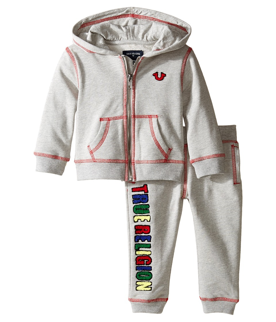 True Religion Kids - True Hoodie Set (Infant) (Heather Gr...