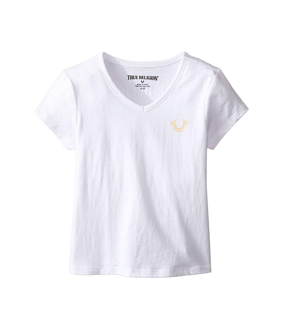 True Religion Kids Buddha T-Shirt (Toddler/Little Kids) (White) Girl