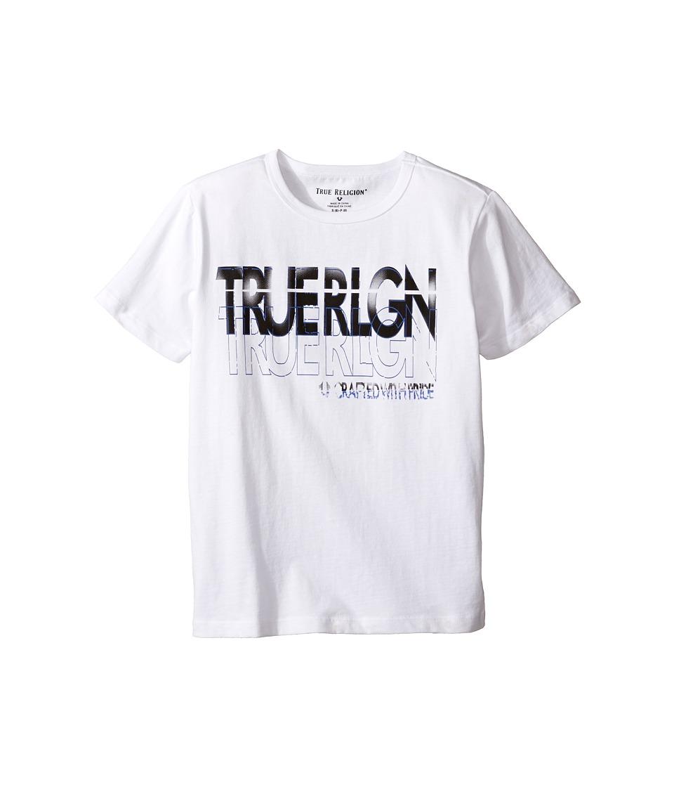 True Religion Kids Shadow Tee (Big Kids) (White) Boy