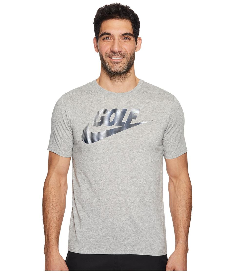 Nike Golf Seasonal Tee (Dark Grey Heather/Armory Navy) Men