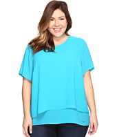 MICHAEL Michael Kors - Plus Size Back Cut Out Short Sleeve Top